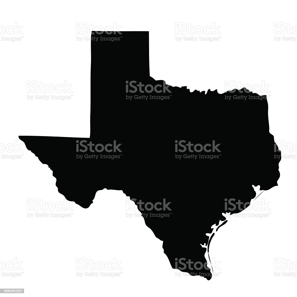 map of the U.S. state Texas – Vektorgrafik