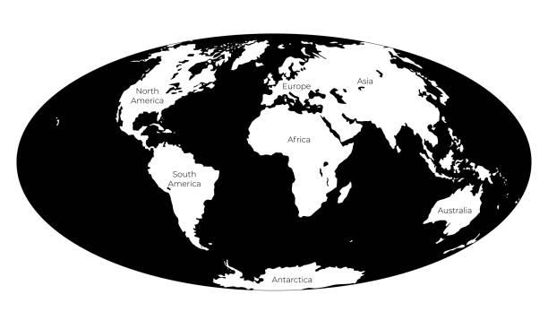 Best World Map Stencil Illustrations, Royalty-Free Vector ...