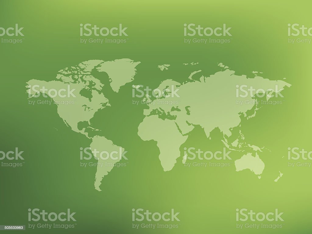 Map of the world on blur background,clean vector royalty-free stock vector art