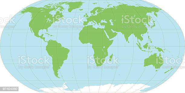 Map Of The World Stock Illustration - Download Image Now