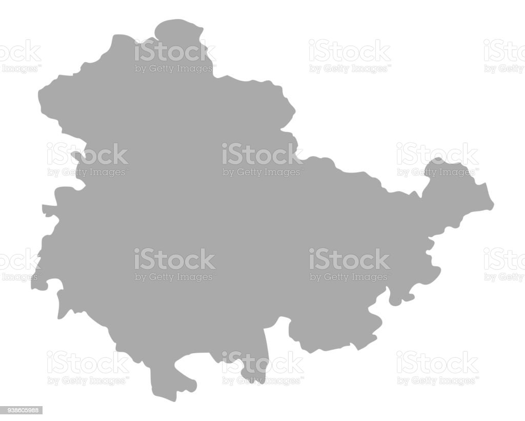 Carte Allemagne Thuringe.Carte De Thuringe Cliparts Vectoriels Et Plus D Images De