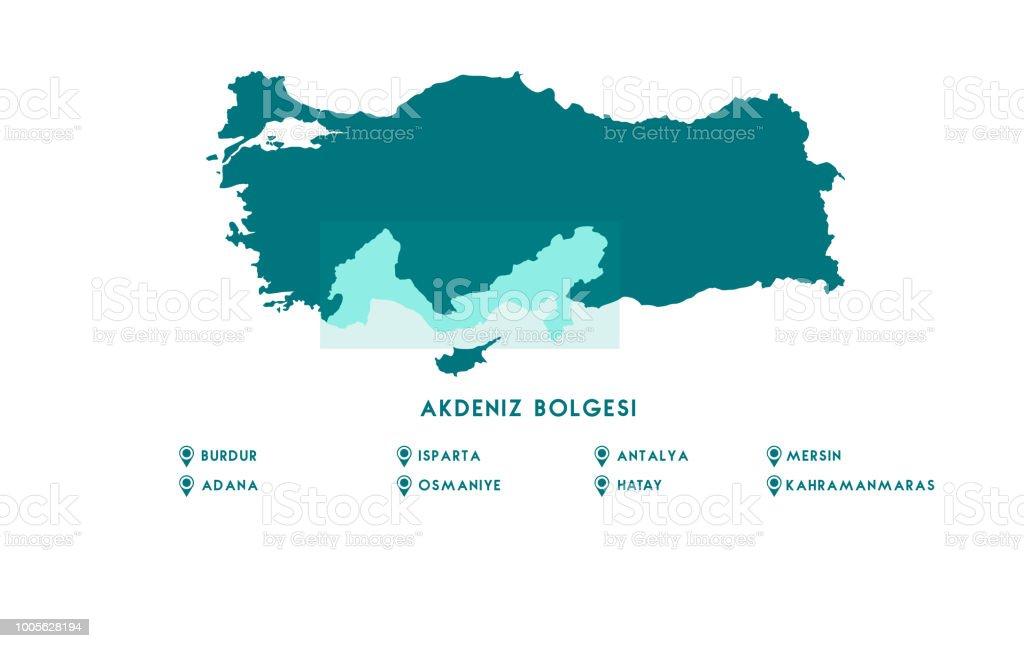 Map Of Turkey High Detailed Vector Map Turkey Stock Vector Art ...