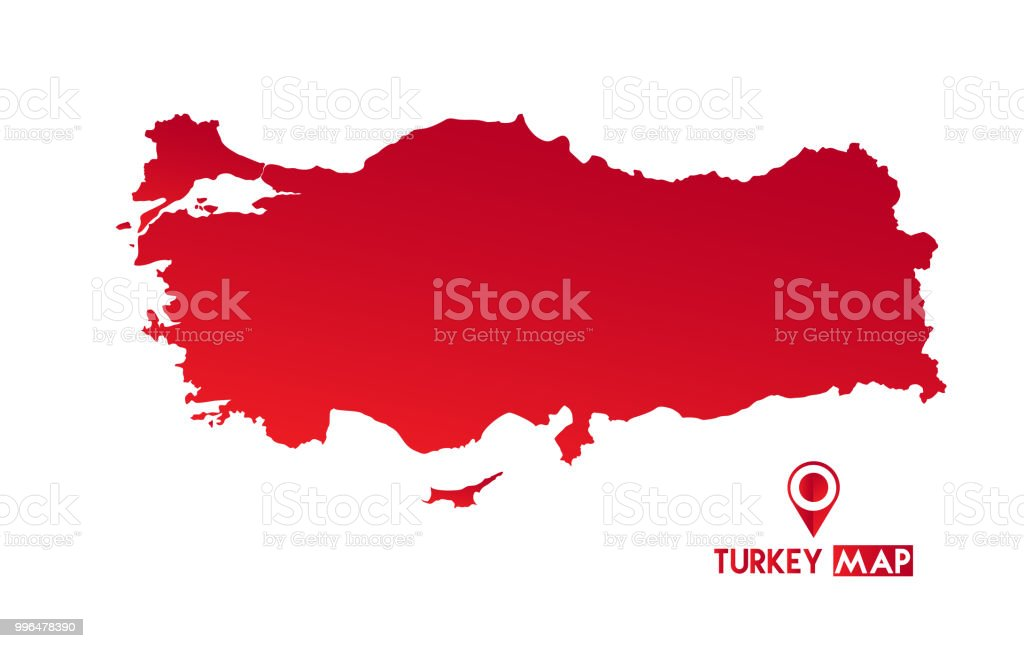 Map of turkey. High detailed vector map - turkey.
