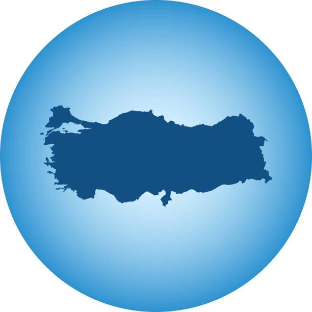 map of Turkey – artystyczna grafika wektorowa