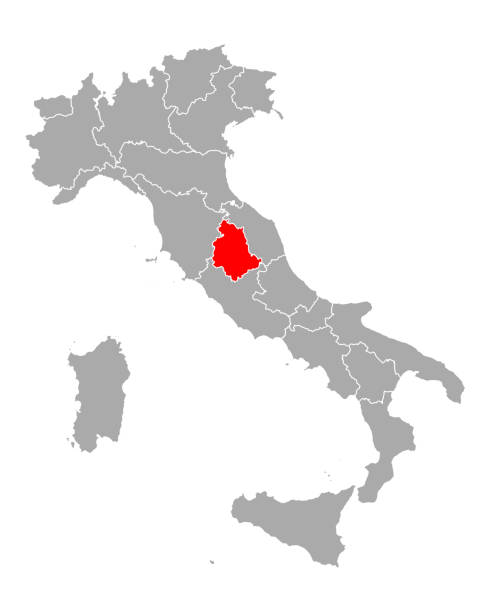 Map of Umbria in Italy Map of Umbria in Italy umbria stock illustrations