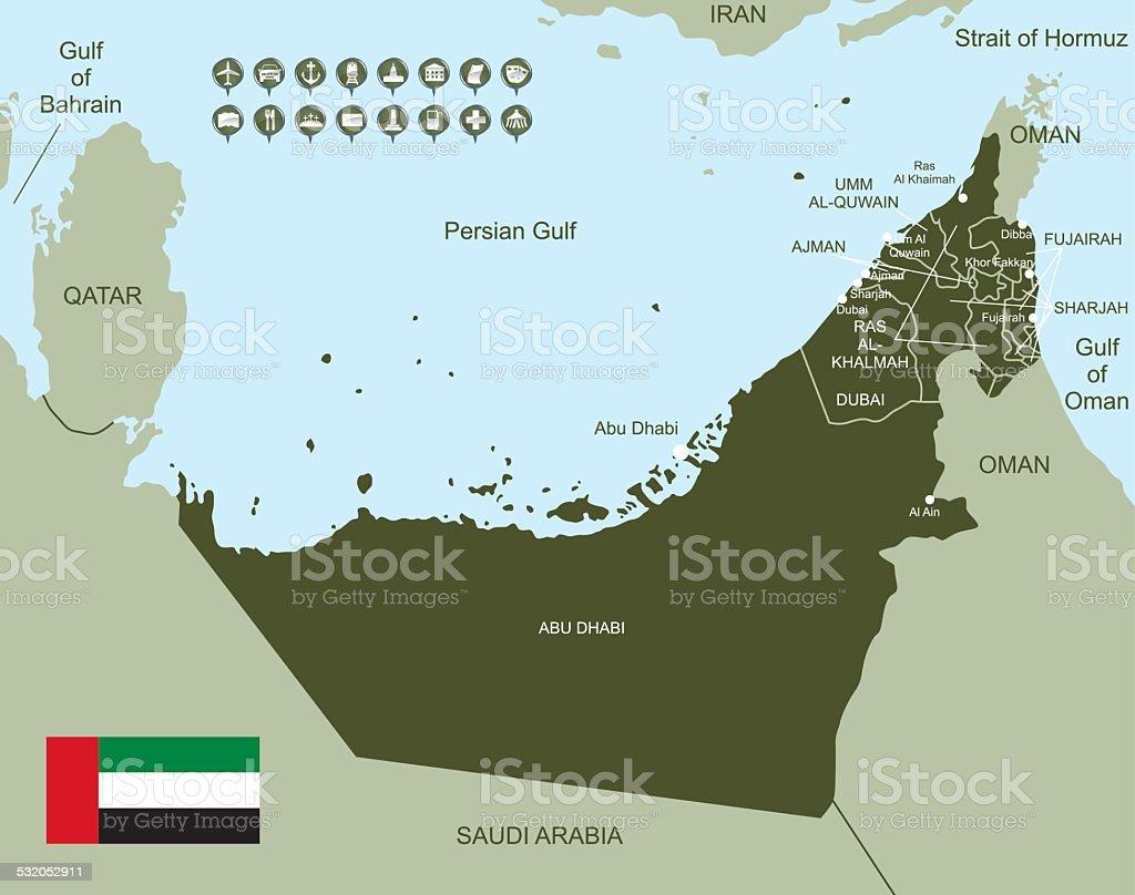 Map of United Arab Emirates