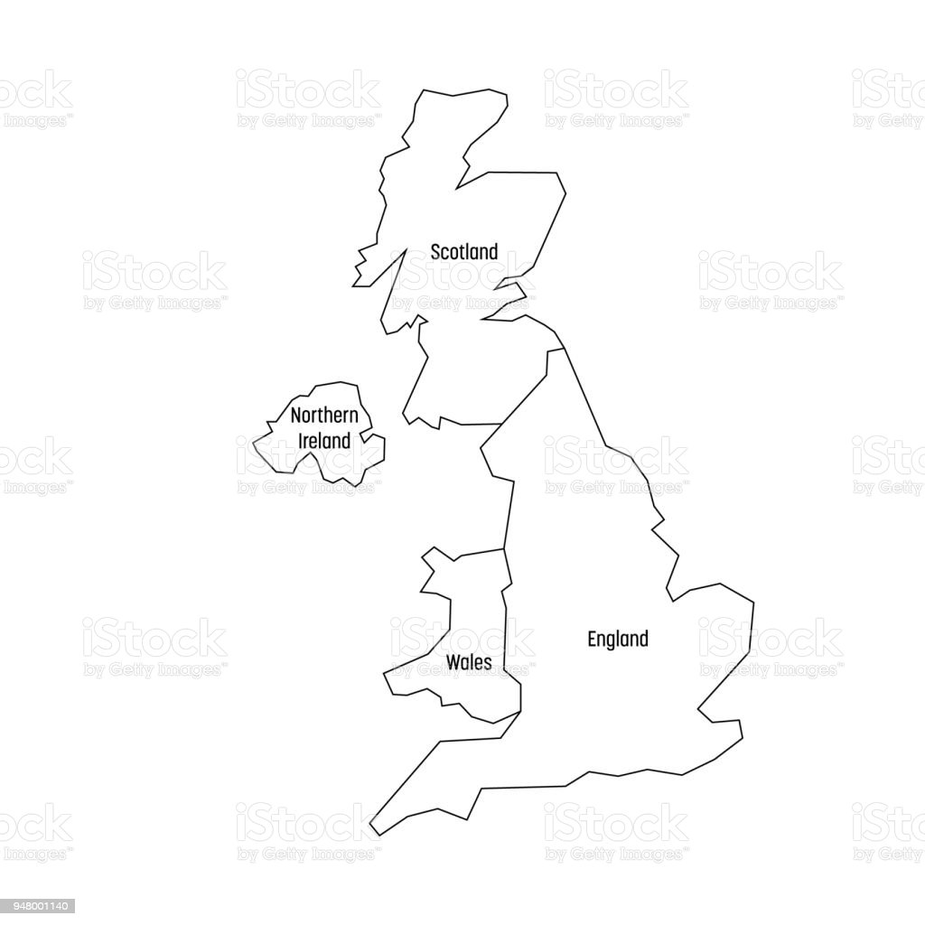 Map Of United Kingdom Countries England Wales Scotland And Northern ...