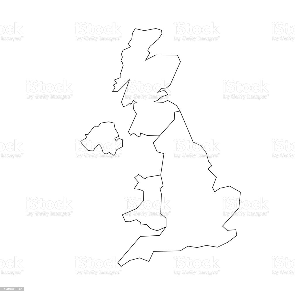 Blank Map Of England Scotland And Wales.Map Of United Kingdom Countries England Wales Scotland And