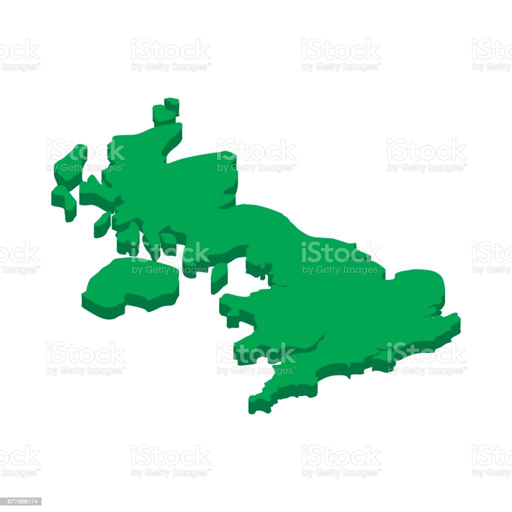 Map of United Kingdom icon, in isometric 3d style royalty-free map of united kingdom icon in isometric 3d style stock vector art & more images of boundary