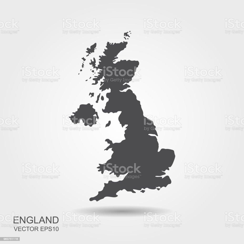 Großbritannien Karte Umriss.Karte Von Großbritannien Stock Vektor Art Und Mehr Bilder Von