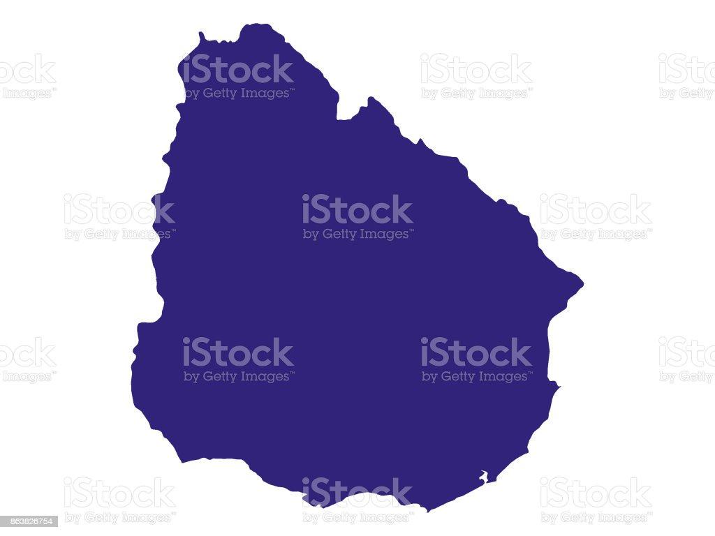 Map Of Uruguay stock vector art 863826754 | iStock
