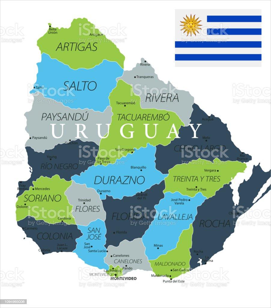 Map of Uruguay - Vector