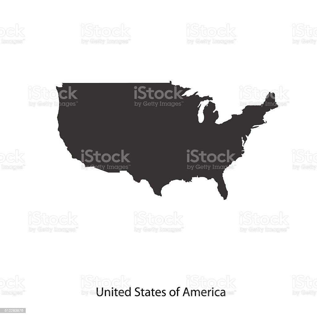 Map of USA for your design vector art illustration