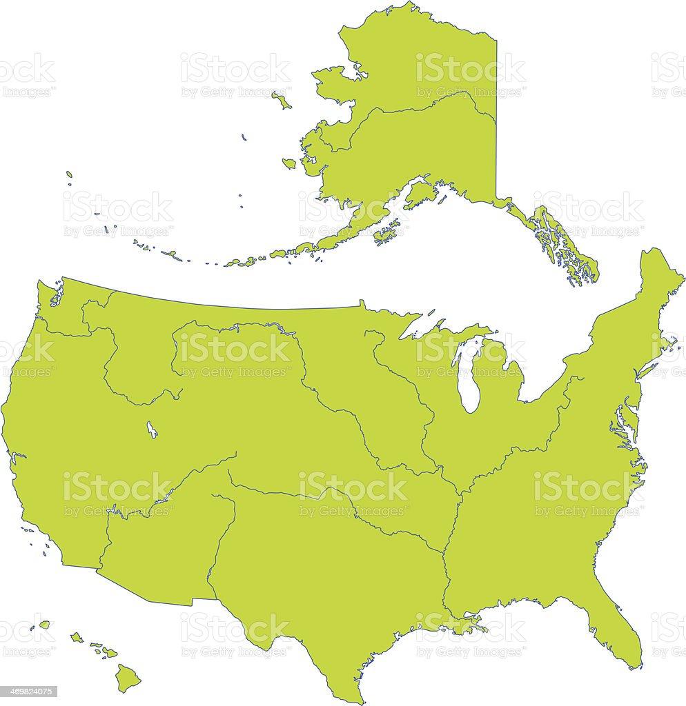 Map of USA royalty-free map of usa stock vector art & more images of alaska - us state
