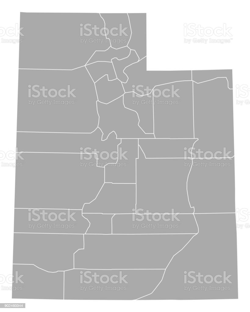 Map of Utah royalty-free map of utah stock illustration - download image now