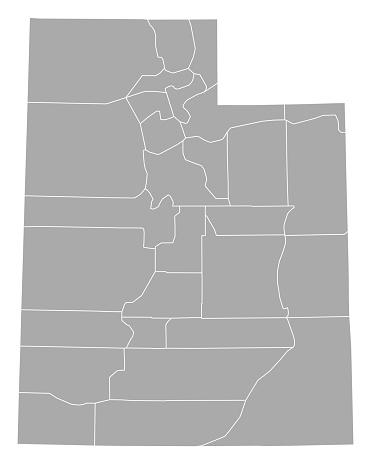 Map Of Utah Stock Illustration - Download Image Now
