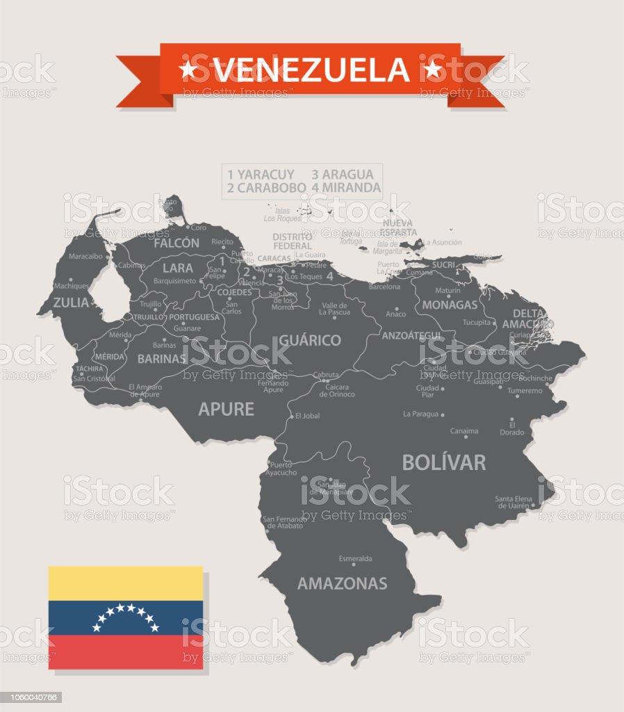 ベネズエラ ビンテージ ベクトルの地図 - イラストレーションの ...