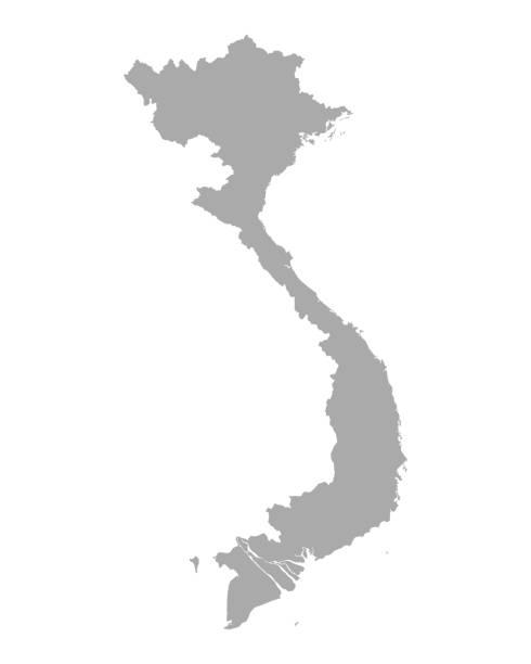 맵 베트남 - 베트남 stock illustrations