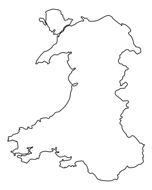 map of wales - wales stock illustrations, clip art, cartoons, & icons