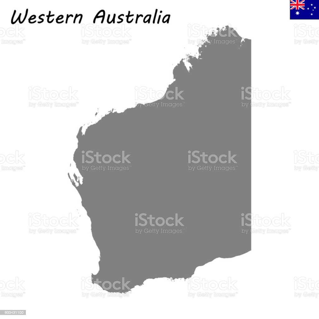 map of western australia is a state of australia royalty free map of western australia
