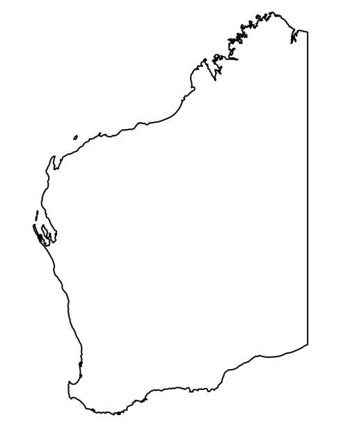 map of western australia - western australia stock illustrations