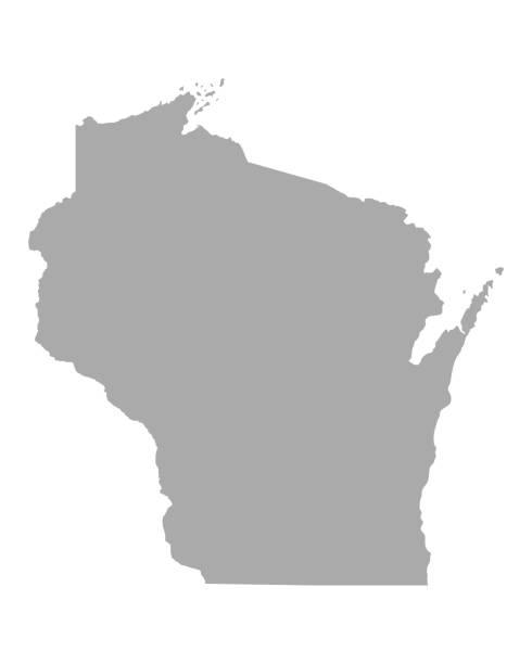 Map of Wisconsin Map of Wisconsin wisconsin stock illustrations