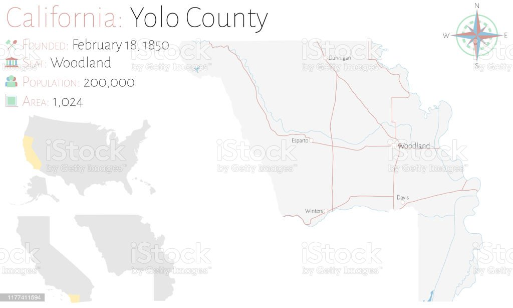 Picture of: Map Of Yolo County In California Stock Illustration Download Image Now Istock