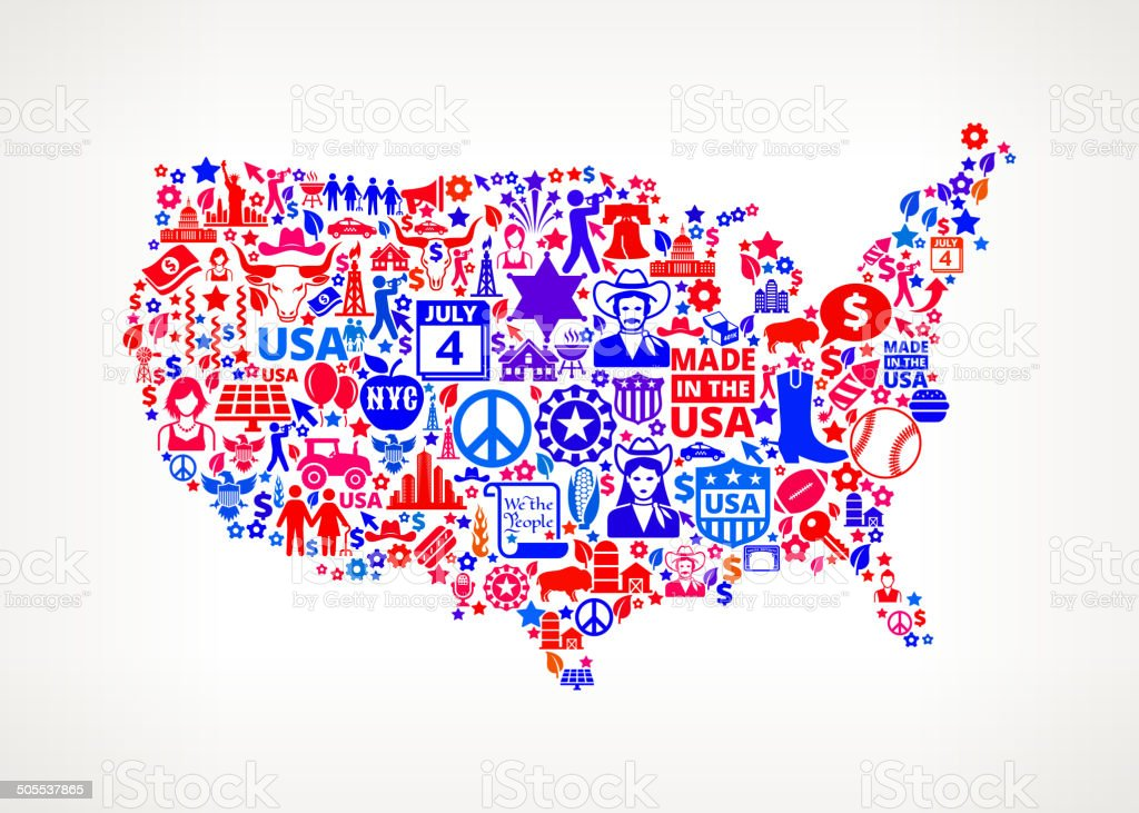 Us Map On American Royalty Free Vector Art Pattern Stock Vector Art ...