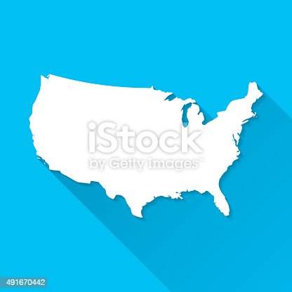 Map of United States of America.
