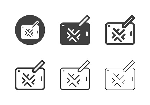 Map on Tablet Icons Multi Series Vector EPS File.
