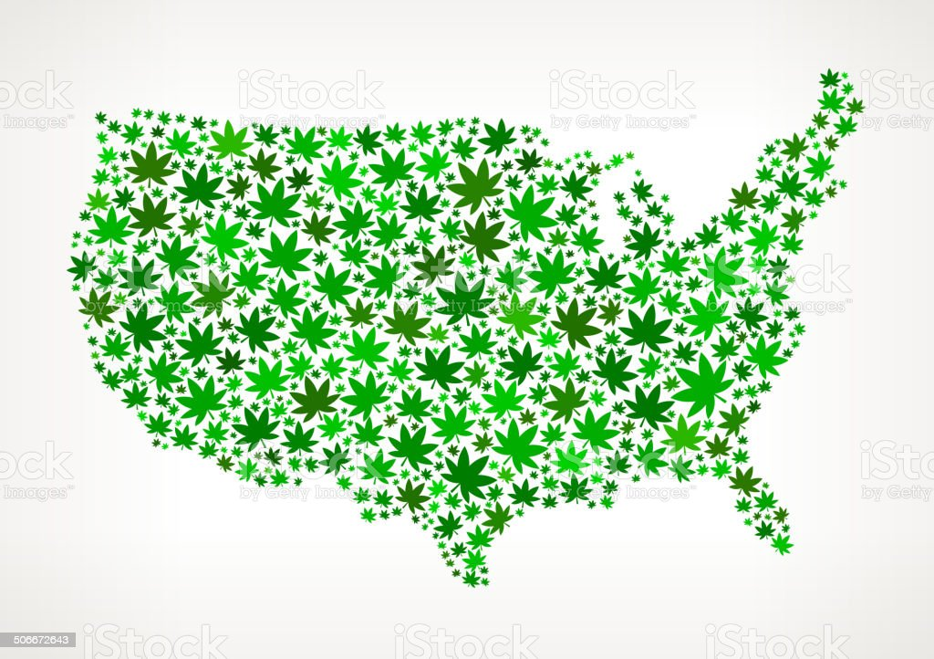 Usa Map On Weed Royalty Free Vector Art Pattern Stock Vector Art - Free vector usa map