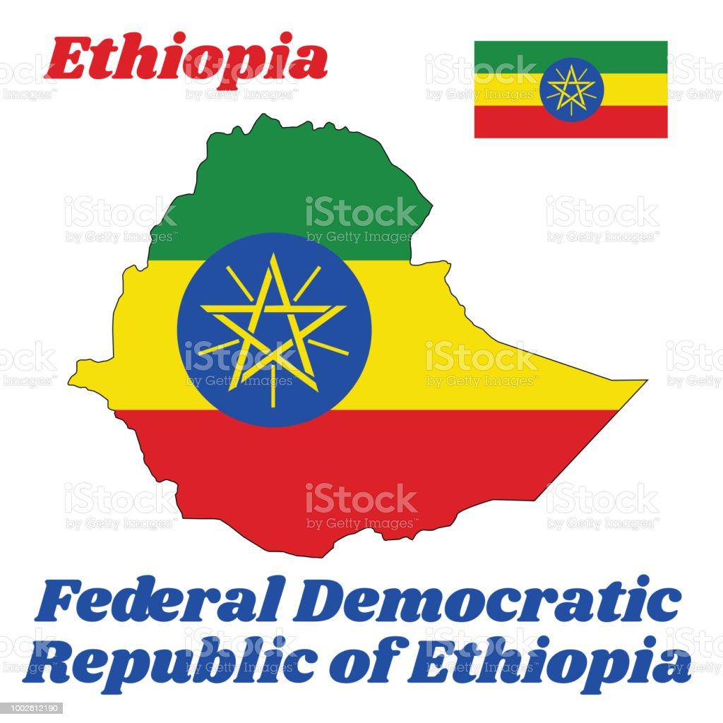 概要とエチオピア緑黄色と国章の中心に重畳すると赤の横三色の旗を ...