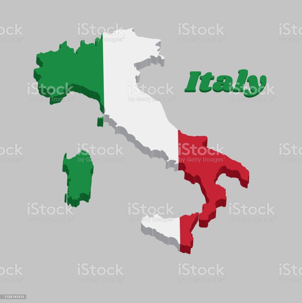 Stiefel Mit Italienischen Flaggenfarben Und text Vektor