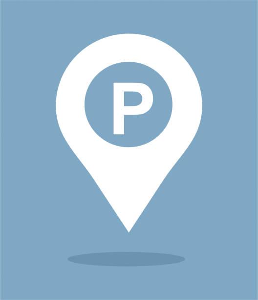 illustrations, cliparts, dessins animés et icônes de carte de stationnement pointeur - gare