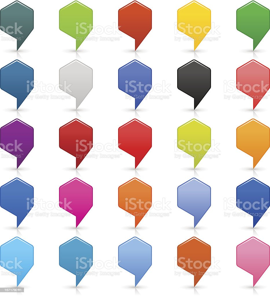 Map pin. 1  credits. Location marker icon empty hexagon button royalty-free stock vector art