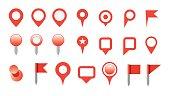 map pin icon set