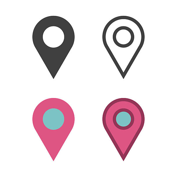 map pin icon - yön stock illustrations
