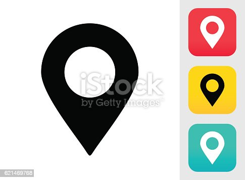 istock Map Pin Icon 621469768