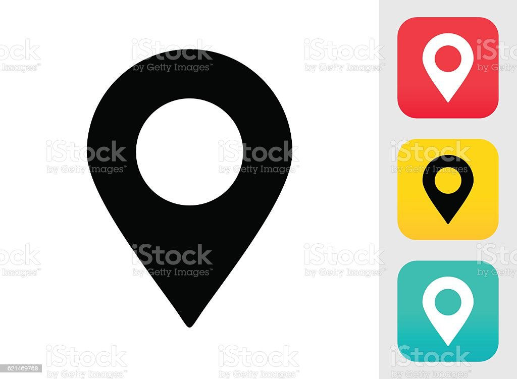 Map Pin Icon vector art illustration