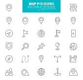 Map Pinpoint Navigation Icon Set. Edit and customize