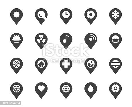 Map Pin Pointer Icons Vector EPS File.