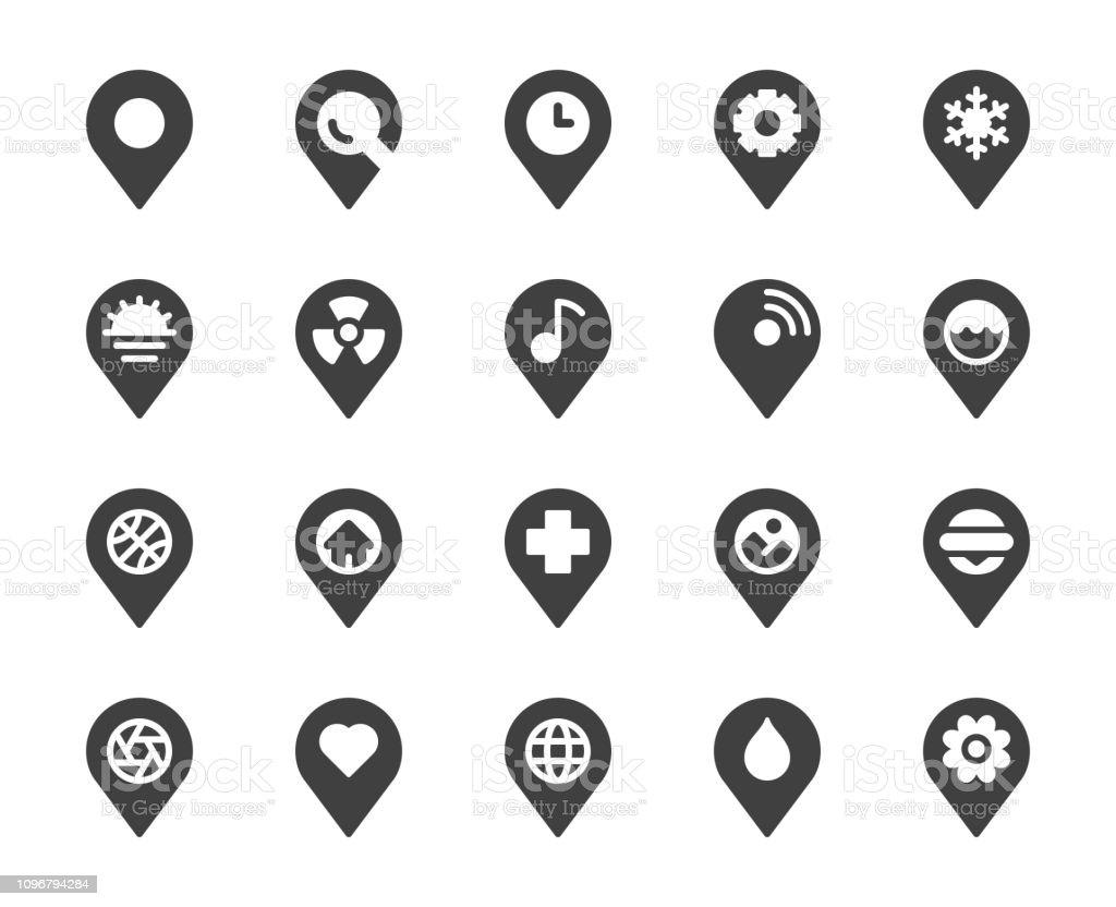 Map Pin Pointer - Icons vector art illustration