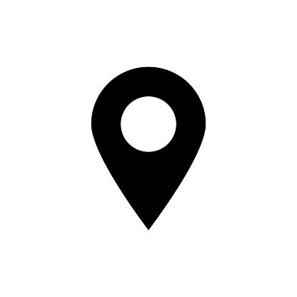 Map Pin Vector Glyph Icon
