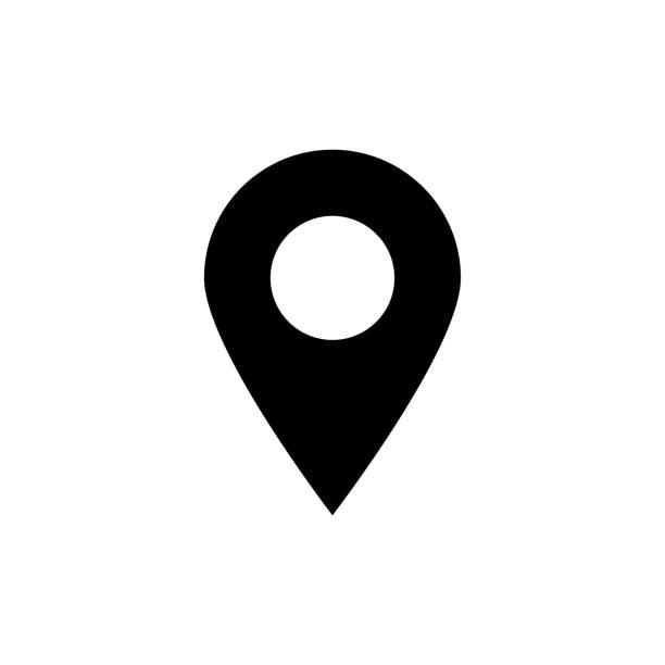karte pin vektor glyph enise - karte navigationsinstrument stock-grafiken, -clipart, -cartoons und -symbole