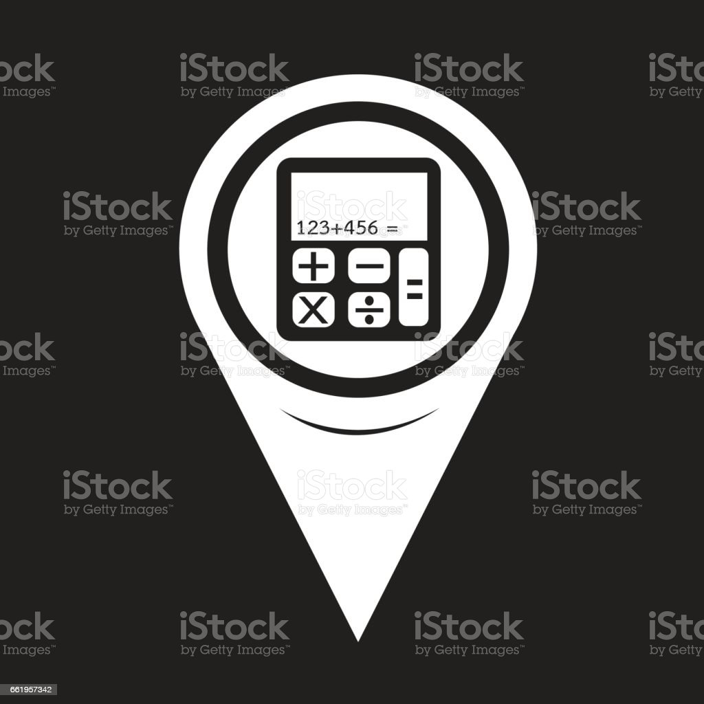 Map Pointer Calculator Icon royalty-free map pointer calculator icon stock vector art & more images of bright