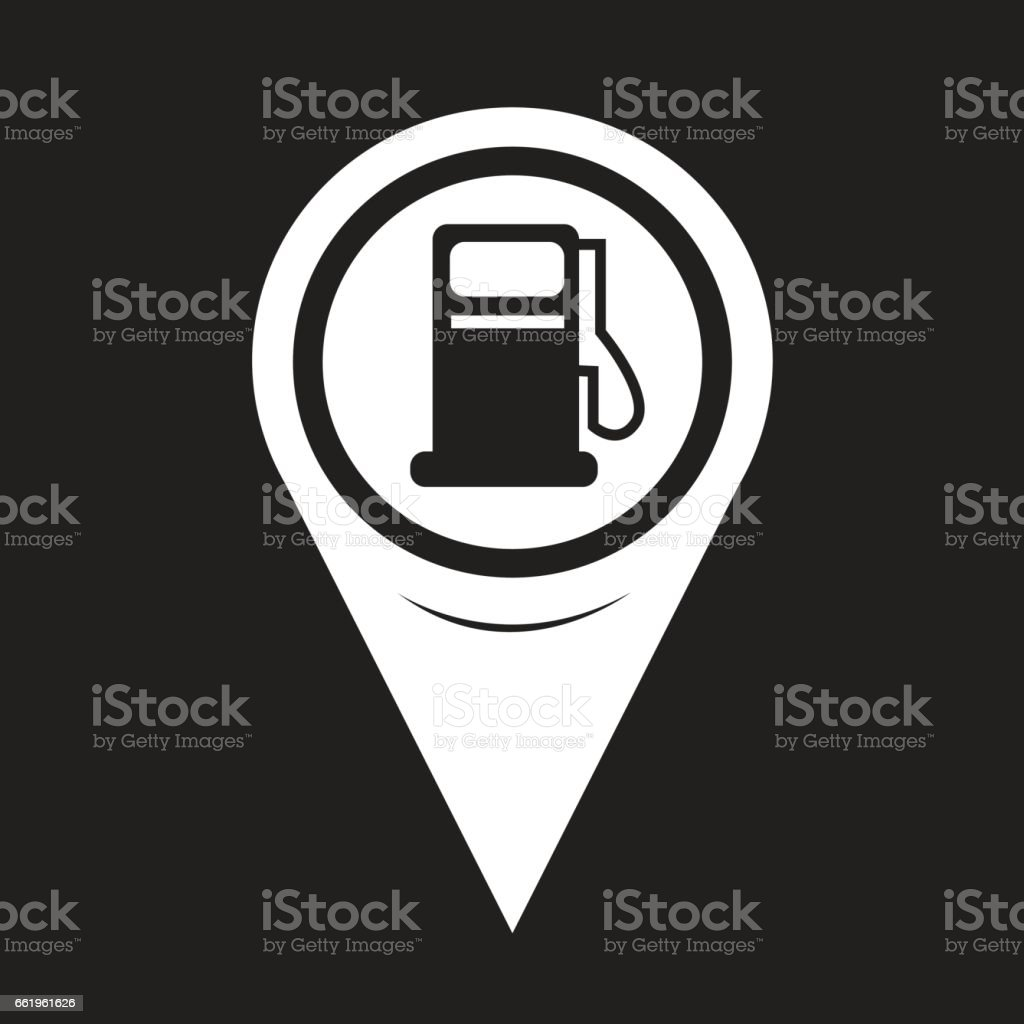 Map Pointer Gas Pump Icon royalty-free map pointer gas pump icon stock vector art & more images of bubble