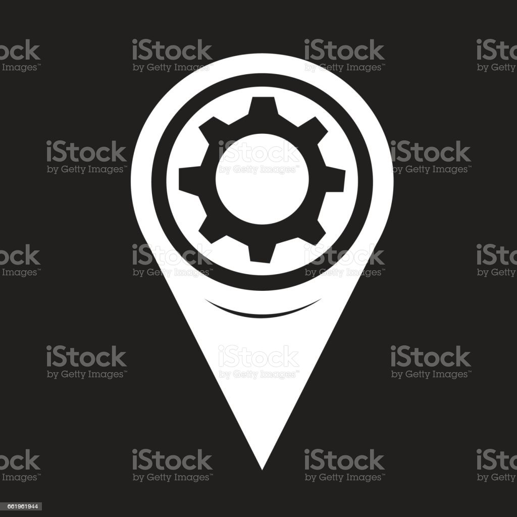 Map Pointer Gear Icon royalty-free map pointer gear icon stock vector art & more images of business