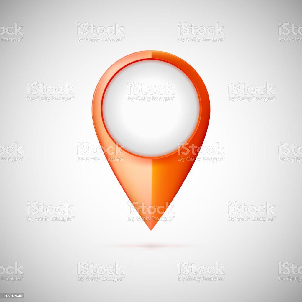 Map pointer icon. vector art illustration