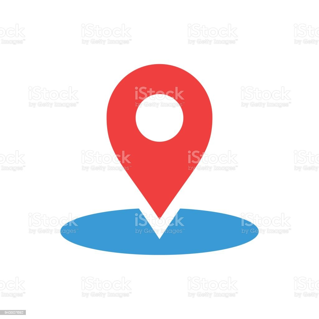 Map pointer in flat style. Gps navigation mark illustration on white isolated background. Pointer destination concept. vector art illustration