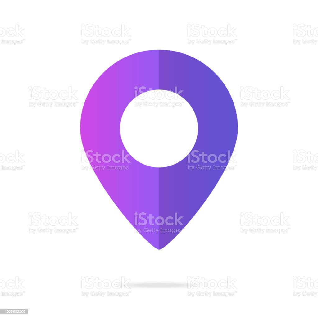 Map pointer, map pin. Location pointer concepts with modern gradient. Vector illustration